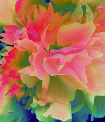 Digital Art - Pop Peony Petals by VIVA Anderson