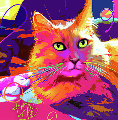 Painting - pOpCat BabyCat by DC Langer
