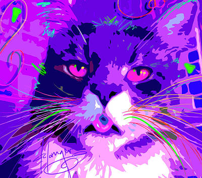 Painting - pOpCat Carlos by DC Langer
