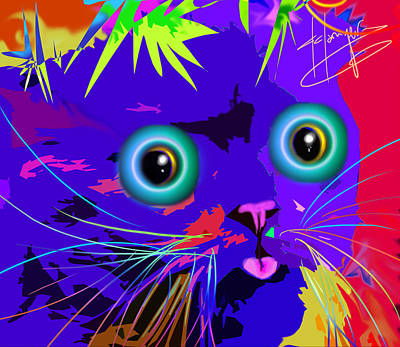 Painting - pOpCat Lusardi by DC Langer