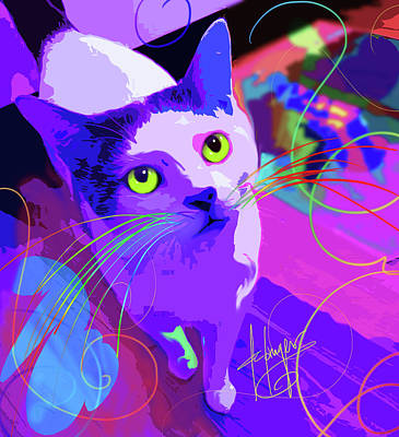 Painting - pOpCat Milo by DC Langer