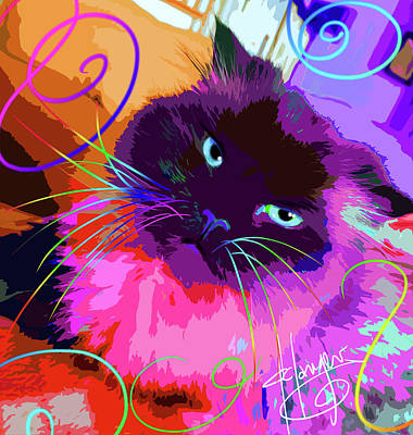 Painting - pOpCat Misha by DC Langer