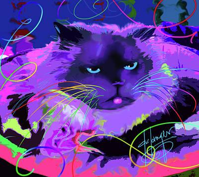 Painting - pOpCat Sasha by DC Langer