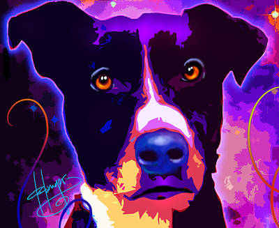 Painting - pOpDog Louie by DC Langer