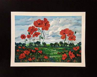 Painting - Poppies        41 19 by Cheryl Nancy Ann Gordon