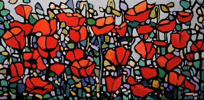 Wall Art - Painting - Poppies by Alison Newth