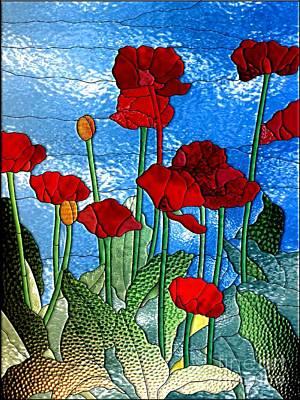 Digital Art - Poppies by Elaine Manley