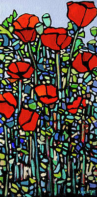 Wall Art - Painting - Poppies II by Alison Newth