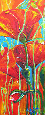 Painting - Poppy-Passion by Marianna MO Warr