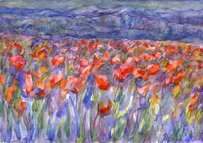 Painting - Poppy Field by Dobrotsvet Art