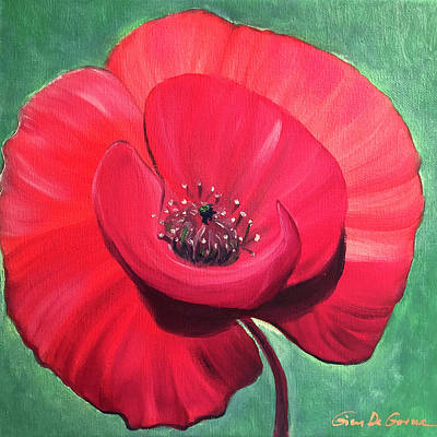 Painting - Poppy Glory by Gina De Gorna