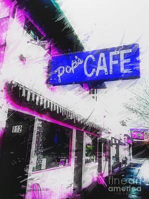 Photograph - Pop's Cafe by Jenny Revitz Soper
