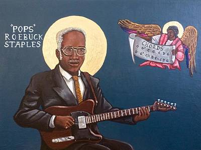Painting - Pops Staples by Kelly Latimore