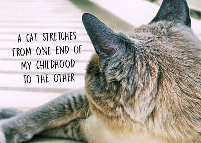 Photograph - Porch Stretch Quote by JAMART Photography