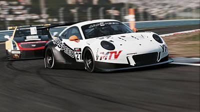 Photograph - Porsche 911 Gt3 R - 01 by Andrea Mazzocchetti