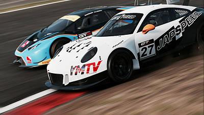 Photograph - Porsche 911 Gt3 R - 03 by Andrea Mazzocchetti