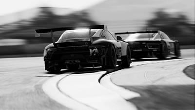 Photograph - Porsche 911 Gt3 R - 11 by Andrea Mazzocchetti