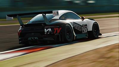 Photograph - Porsche 911 Gt3 R - 12 by Andrea Mazzocchetti