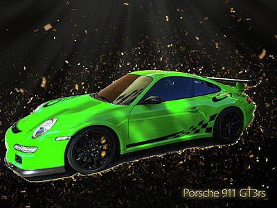 Digital Art - Porsche 911 Gt3rs by Max Huber