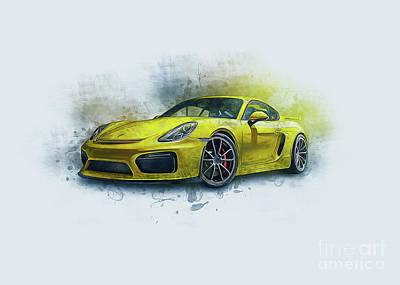 Sports Paintings - Porsche 911 by Ian Mitchell