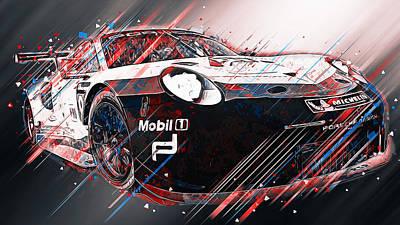 Digital Art - Porsche 911 Rsr  - 03 by Andrea Mazzocchetti