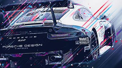 Digital Art - Porsche 911 Rsr  - 04 by Andrea Mazzocchetti