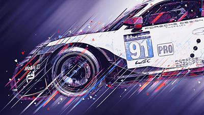 Digital Art - Porsche 911 Rsr  - 05 by Andrea Mazzocchetti
