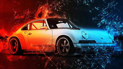 Photograph - Porsche 911 Singer - 01 by Andrea Mazzocchetti