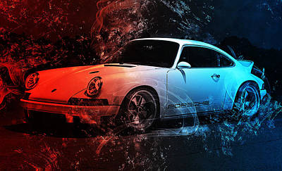 Photograph - Porsche 911 Singer - 02 by Andrea Mazzocchetti