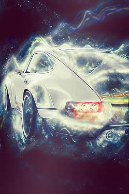 Digital Art - Porsche 911 Singer - 03 by Andrea Mazzocchetti