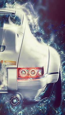 Digital Art - Porsche 911 Singer - 04 by Andrea Mazzocchetti