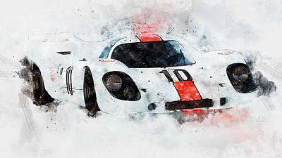Painting - Porsche 917k - 89 by Andrea Mazzocchetti