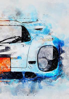 Painting - Porsche 917k - 90 by Andrea Mazzocchetti