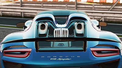 Photograph - Porsche 918 Hybrid - 37 by Andrea Mazzocchetti