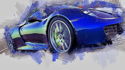 Painting - Porsche 918 Hybrid - 56 by Andrea Mazzocchetti