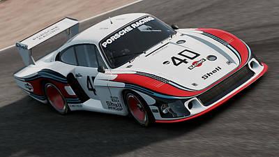 Photograph - Porsche 935/78 - 09 by Andrea Mazzocchetti