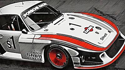 Painting - Porsche 935/78 - 17 by Andrea Mazzocchetti