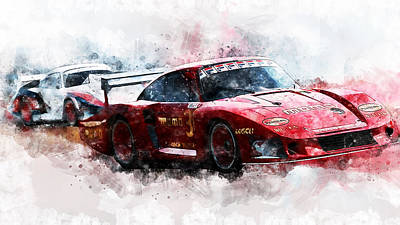 Painting - Porsche 935-80 - 57 by Andrea Mazzocchetti