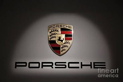 Recently Sold - Sports Royalty-Free and Rights-Managed Images - Porsche Car Emblem 2 by Stefano Senise