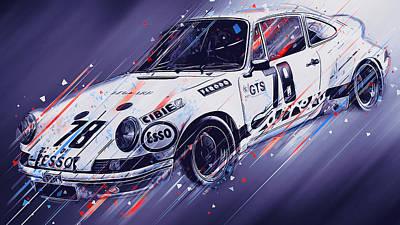 Digital Art - Porsche Carrera Rsr, 1973 - 25 by Andrea Mazzocchetti