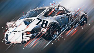 Digital Art - Porsche Carrera Rsr, 1973 - 27 by Andrea Mazzocchetti