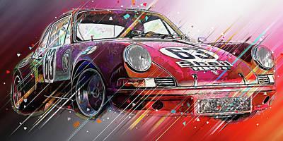 Digital Art - Porsche Carrera Rsr, 1973 - 29 by Andrea Mazzocchetti
