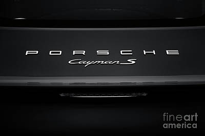 Photograph - Porsche Cayman S Monochrome by Tim Gainey