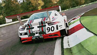 Martini Paintings - Porsche GT3 Martini Racing - 59 by Andrea Mazzocchetti