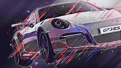 Digital Art - Porsche Gt3 Rs - 42 by Andrea Mazzocchetti