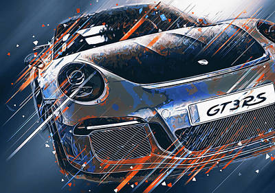 Digital Art - Porsche Gt3 Rs - 43 by Andrea Mazzocchetti