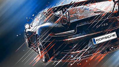 Digital Art - Porsche Gt3 Rs - 45 by Andrea Mazzocchetti