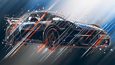 Digital Art - Porsche Gt3 Rs - 46 by Andrea Mazzocchetti