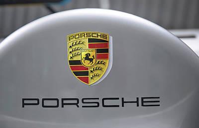 Photograph - Porsche Logo by Gene Parks