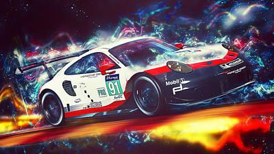 Digital Art - Porsche Rsr 2017 - 54 by Andrea Mazzocchetti